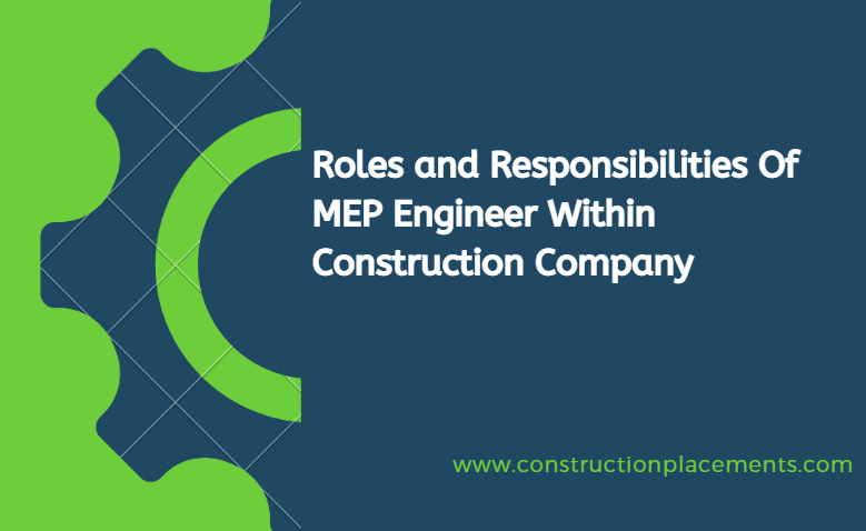 Role of MEP Engineer in construction